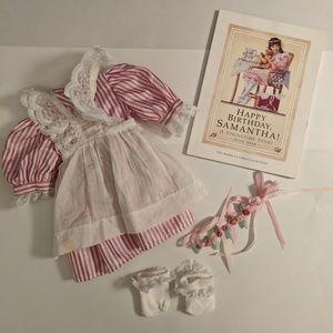 American Girl Samantha Pinafore Dress RETIRED